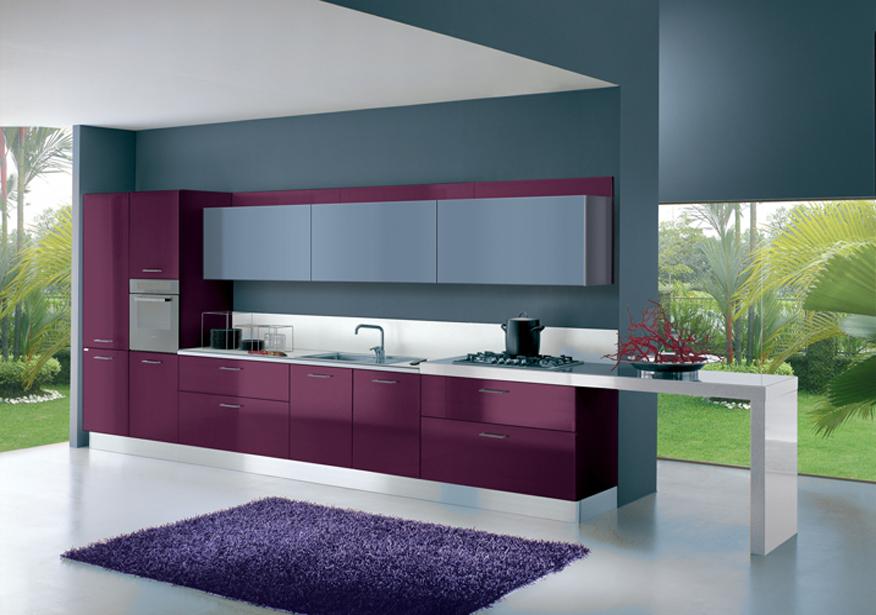 Cucine Moderne Color Melanzana.Arredamenti Cucine Siciliane
